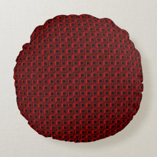 Barnacles in Red Round Throw Pillow