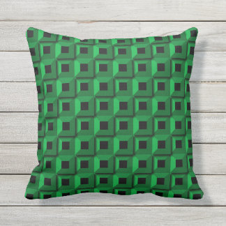 Barnacles in Teal Outdoor Throw Pillow