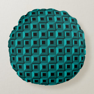 Barnacles in Turquois Round Pillow
