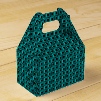 Barnacles in Turquoise Gable Favor Box