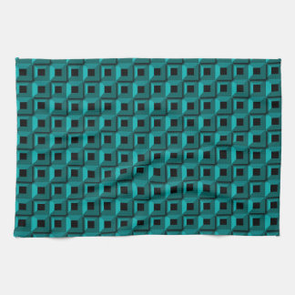 Barnacles in Turquoise Kitchen Towel