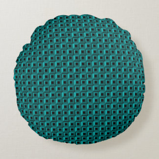 Barnacles in Turquoise Round Throw Pillow