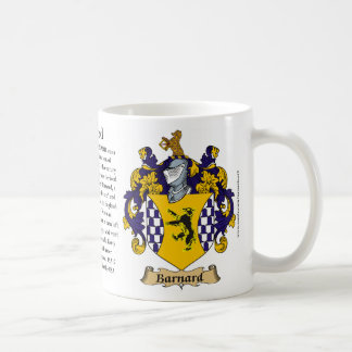 Barnard, the Origin, the Meaning and the Crest Coffee Mug