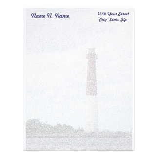 Barnegat Lighthouse LBI Letterhead Stationery