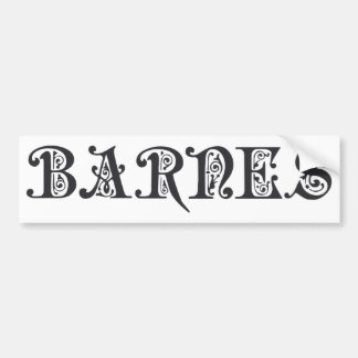 Barnes Fancy Swirls Bumper Sticker