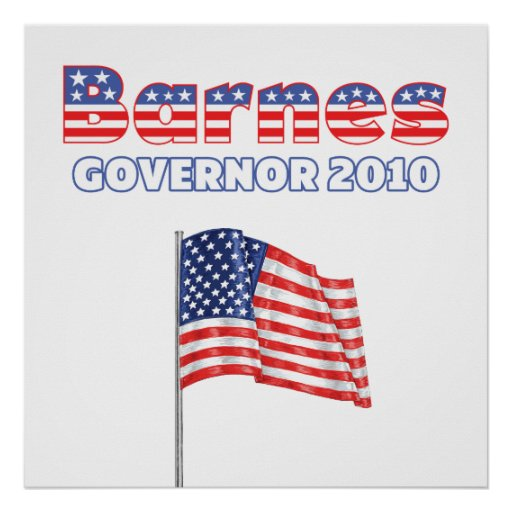Barnes Patriotic American Flag 2010 Elections Poster