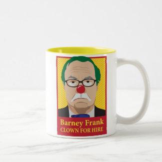 Barney Frank is a Clown Two-Tone Coffee Mug