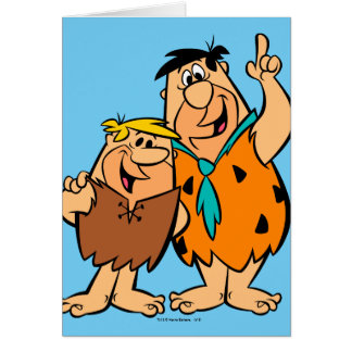 Barney Rubble and Fred Flintstone Card
