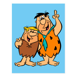 Barney Rubble and Fred Flintstone Postcard