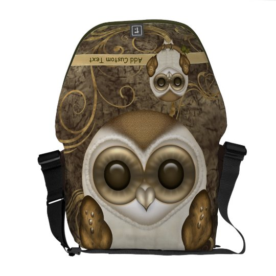 Barney The Barn Owl Personalized Courier Bag