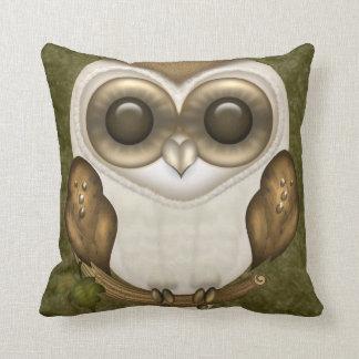 Barney The Barn Owl Throw Pillow