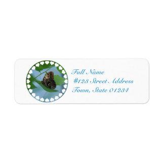 Barnowl Butterfly Return Address Label