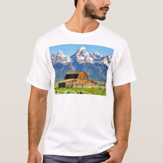 Barns Grand Tetons Mountains T-Shirt