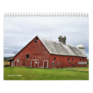 Barns In Vermont Wall Calendars
