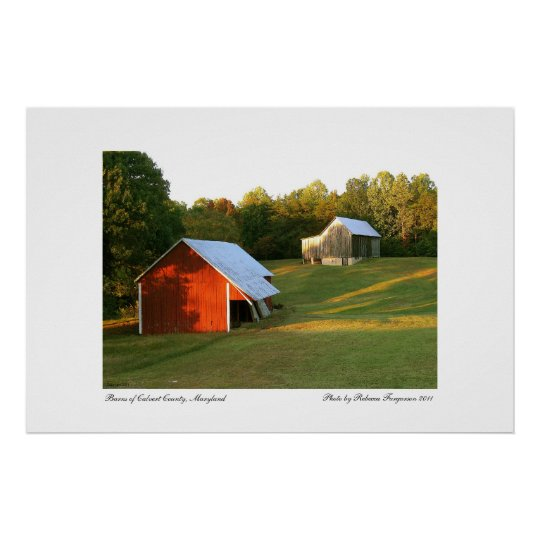 Barns of Calvert County, Maryland Poster