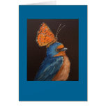 barnswallow with butterfly card
