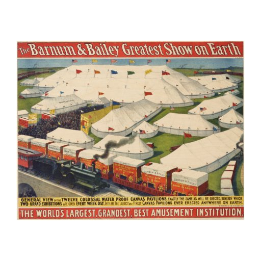 Barnum and Bailey Circus 1899 Wood Prints