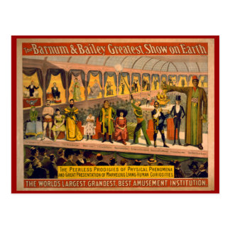 Barnum and Bailey Circus Poster Postcard