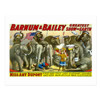 Barnum & Bailey - Elephants Postcard