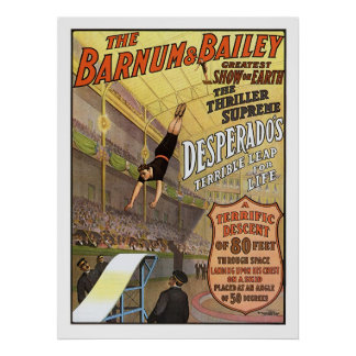 Barnum & Bailey Leap for Life Circus Advertisement Poster