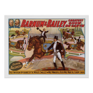 Barnum & Bailey Smallest Rider Advertisement Poster