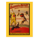 Barnum et chiens du football de cirque de Bailey Carte Postale