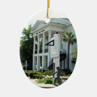 Barnwell Courthouse and Sundial Ceramic Ornament