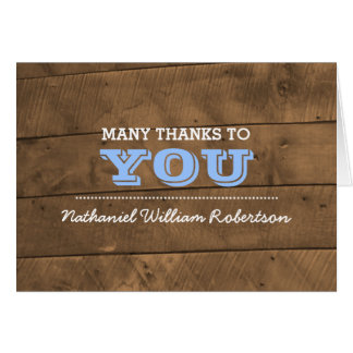 Barnwood Blue Confirmation Thank You Note Card