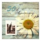 barnwood country daisy 50th wedding anniversary card