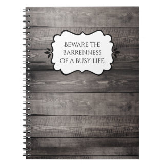 Barnwood Home Decor Spiral Note Book