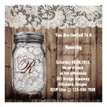 barnwood lace country  mason jar bridal shower