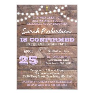 Barnwood Lights Lilac Confirmation/Baptism Card