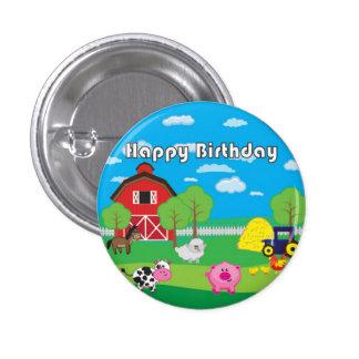 Barnyard Animal - Farm - Birthday Party - Badge 1 Inch Round Button
