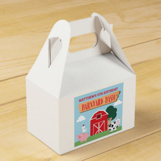 Barnyard Birthday Bash/Party Favor Box