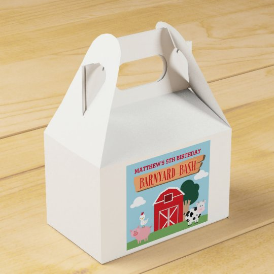 Barnyard Birthday Bash/Party Favour Box
