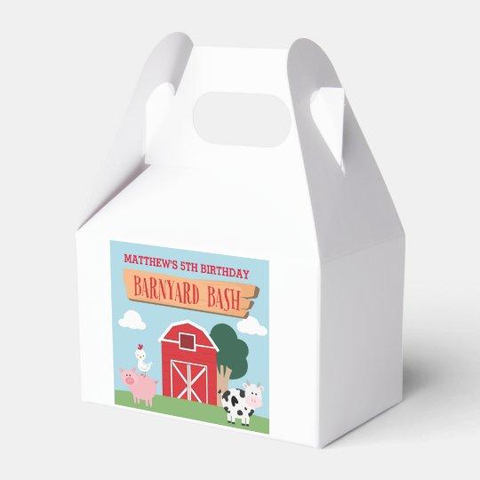Barnyard Birthday Bash/Party Favour Box Favor Box