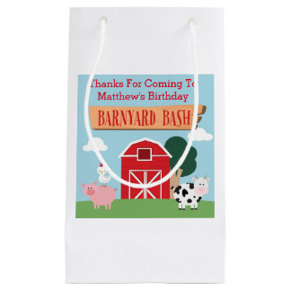 Barnyard Birthday Bash/Party Small Gift Bag