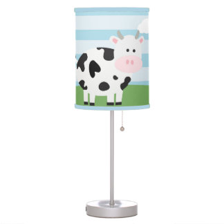 Barnyard Cow Nursery Kids Room Lamp