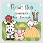 Barnyard Farm Animal Party Favour Sticker Labels
