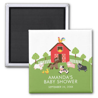 Barnyard Farm Animals Baby Shower Favor  Magnet