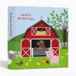Barnyard Farm Animals Birthday Photo Album Binder