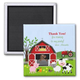 Barnyard Farm Animals Thank You Magnet Magnet