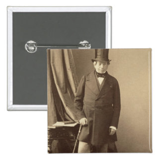 Baron James Rothschild 2 Inch Square Button