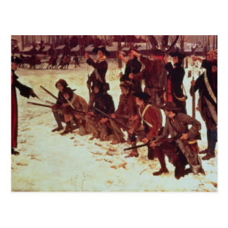 Baron von Steuben drilling American recruits Postcard