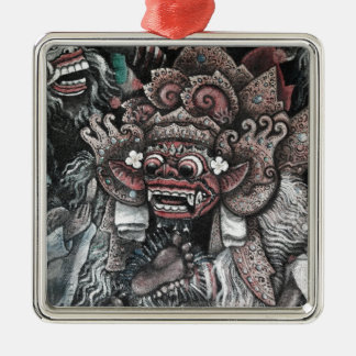 Barong and Rangda Bali Metal Ornament