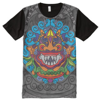 Barong Art Black One Side All-Over-Print T-Shirt