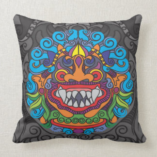 Barong Artwork Black Pillow