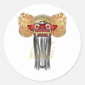 barong bali classic round sticker