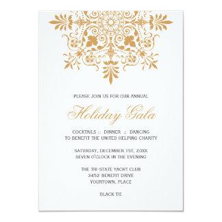 Baroque Amber Ornamental Holiday Gala Card