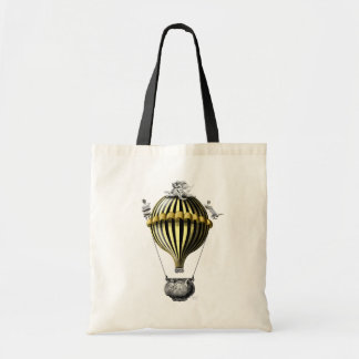 Baroque Balloon Black Yellow Tote Bag